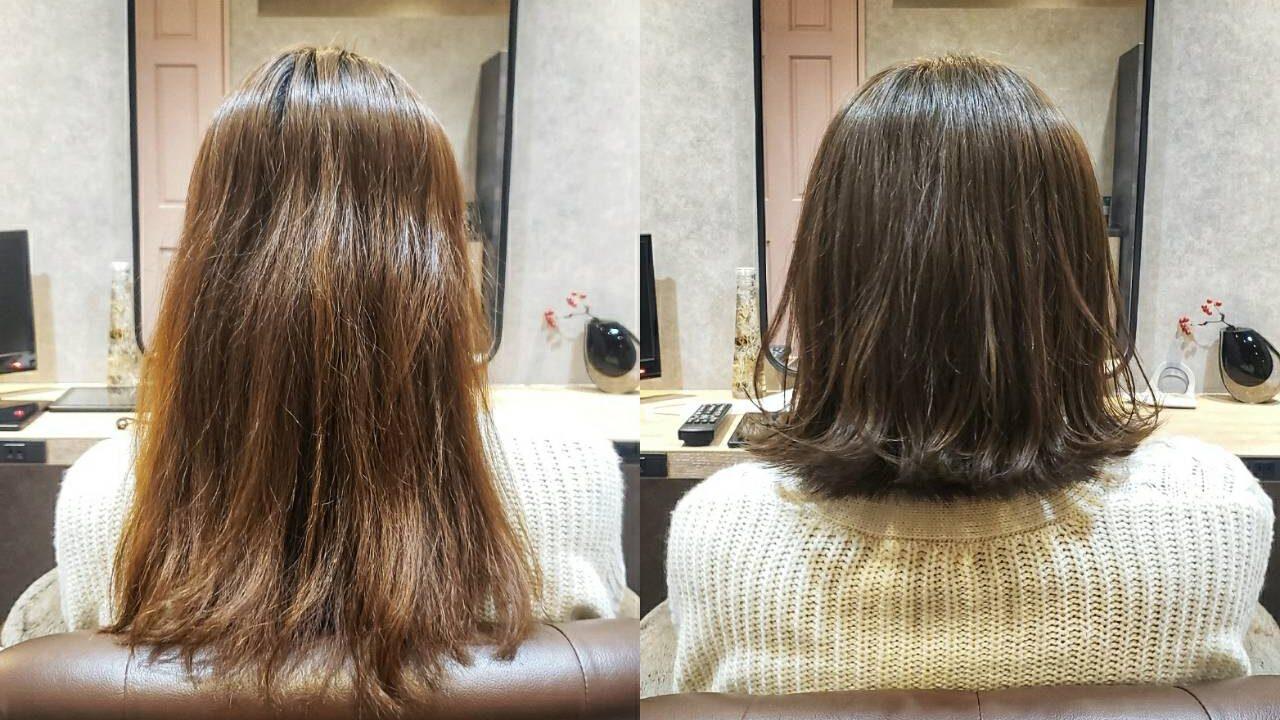松本市の髪質改善の美容院スムークの施術事例
