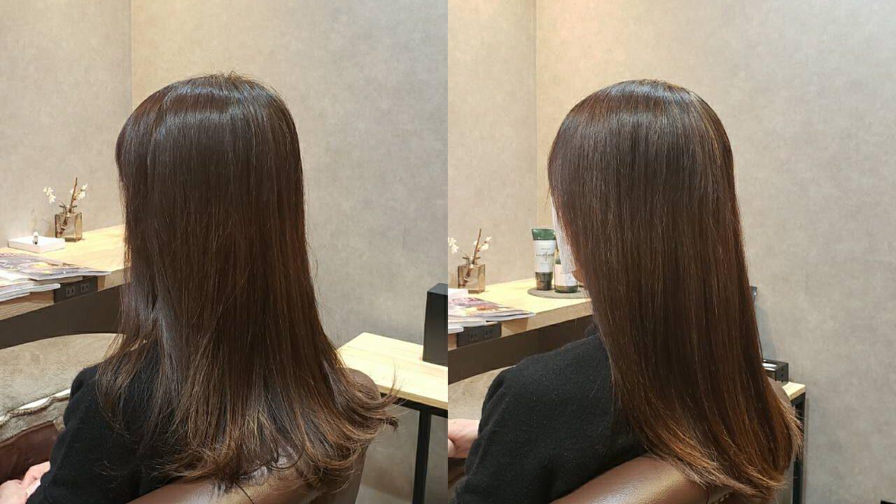 前髪と顔周りのストレートケア